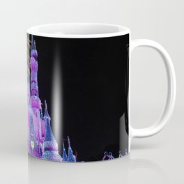 Disney Magic Kingdom Fireworks at Christmas - Cinderella Castle Coffee Mug
