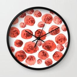 Juicy roses Wall Clock