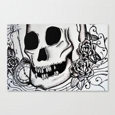 Close up skull Canvas Print