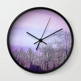 Lavender Dusk Landscape | Nadia Bonello Wall Clock