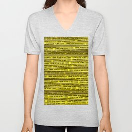 Crime scene / 3D render of endless crime scene tape Unisex V-Neck