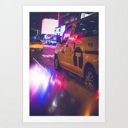 Taxi NYC Life (Color) Art Print