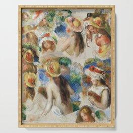 Study of Heads (Étude de têtes) (1890) by Pierre-Auguste Renoir. Serving Tray