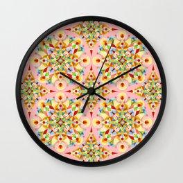 Pink Carousel Wall Clock
