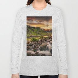 Tryfan and Llyn Ogwen Snowdonia Long Sleeve T-shirt