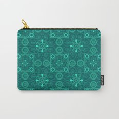 Retro .Vintage . Turquoise openwork ornament . Carry-All Pouch