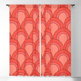 Fish Scales (coral) Blackout Curtain