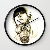 mask Wall Clocks featuring MASK by lantomo