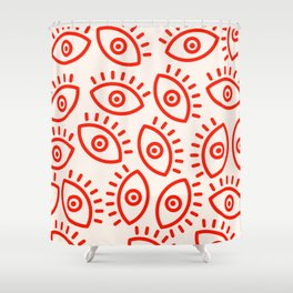 Eye Pattern Shower Curtain