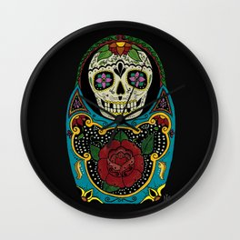 Mexican Matryoshka Wall Clock