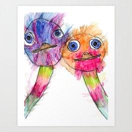 Ostrich Love Art Print