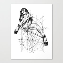 Samael Lilith and the Golden ratio Canvas Print