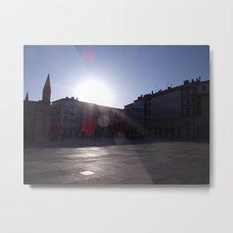 Sunrise on the desert city Metal Print