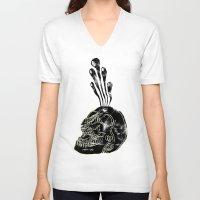 bath V-neck T-shirts featuring Bath Salts by Josh Ln