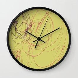 yellow swirl Wall Clock