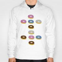 doughnut Hoodies featuring Doughnut by PSHAWWHO