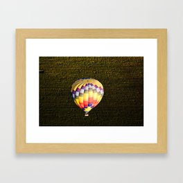 Balloon and Napa Vineyards Framed Art Print