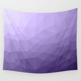 Ultra violet purple geometric mesh Wall Tapestry
