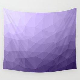 Ultra violet purple geometric mesh pattern Wall Tapestry