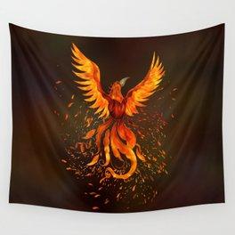 Rising Phoenix Bird  Wall Tapestry