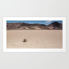 A Rock that moves Art Print