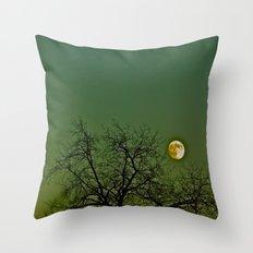 Tangled Tree Moon Throw Pillow