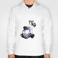 reindeer Hoodies featuring Reindeer by infloence