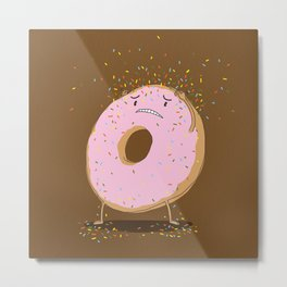 Itchy Donut Metal Print