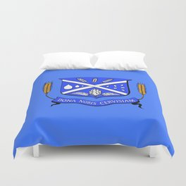 Give Us Beer College Emblem with Latin Script Duvet Cover