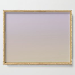 FALLING INTO PLACE - Minimal Plain Soft Mood Color Blend Prints Serving Tray
