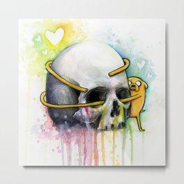 Jake the Dog and Skull Metal Print