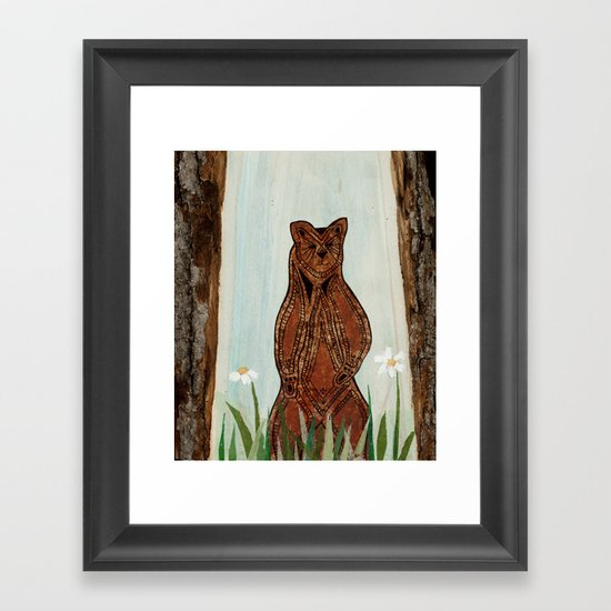 Standing Bear Framed Art Print