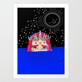 new moon in virgo Art Print