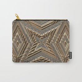 Shimmering Golden Ornamental Engraving Carry-All Pouch