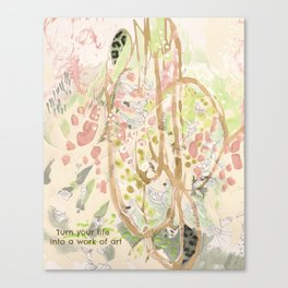 Life Into Art #2: by Deb Haugen (#HeyCreateDaily) Canvas Print