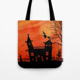 Haunted House Witch Play Tote Bag