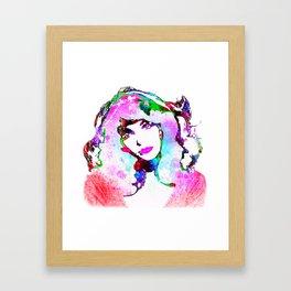 Painted Kate Framed Art Print