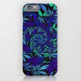 Aquatic Shades Marijuana Pot Leaf Kaleidoscope Mandala iPhone Case
