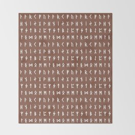 Nordic Runes // Ironstone Throw Blanket