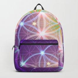 Purple Flower of Life Backpack