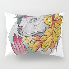 Neo Traditional Feline Pillow Sham
