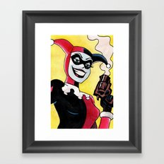 Female Jester Framed Art Print