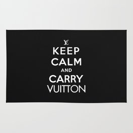 Keep Calm and Carry Vuitton Rug