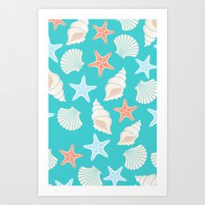 Shells pattern Art Print