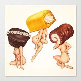 Hostess Cake Girls Canvas Print