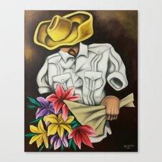 Guajiro in Love. Miguez Cuban Art. Canvas Print