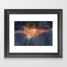 I have the fury of my own momentum. Framed Art Print