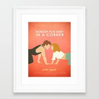 dirty dancing Framed Art Prints featuring Dirty Dancing (80's Minimalism Series) by Trevor Downs