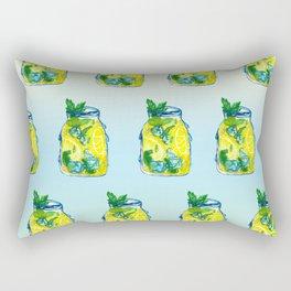 Watercolor - Iced Lemon Mint Tea Rectangular Pillow