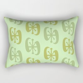 Starburst Bell Peppers Light Green Rectangular Pillow